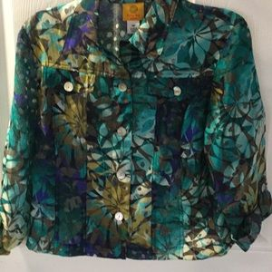 Ruby Rd.~Cute Blouse~~Convertible Sleeve~🌀🌀